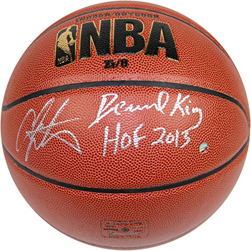 Bernard-Kingcarmelo-Anthony-Dual-Autographed-Indooroutdoor-Basketball-With-HOF-Hall-Of-Fame-Inscribed