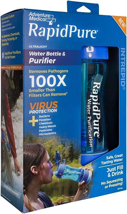 Rapid Pure Intrepid - Botella de Agua con purificador de ioneer ...