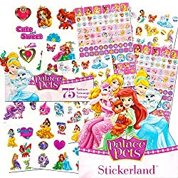 Disney Princess Palace Pets Stickers & Tattoos Party Favor Pack (295 Stickers & 75 Temporary Tattoos)