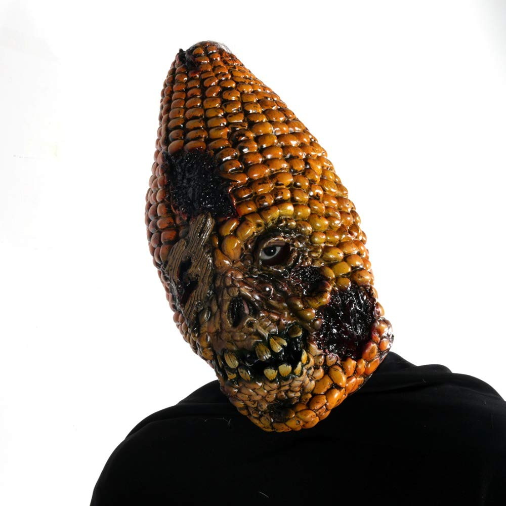 SaveStore 15''Full Face Scary Burn Corn Mask for Cosplay Latex Mask Horror Masquerade Adult Ghost Halloween Theater Props Party