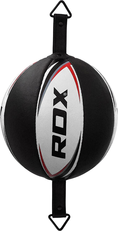 RDX Double End Vitesse Ball Vachette Bag Corde Attache Poire de Vitesse Boxe Frappe Entrainement MMA Speed Ball Muay Thai