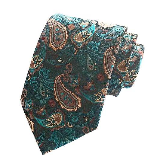 d91fb8f72e21 MENDENG Aqua Orange Men's Floral Paisley Ties Silk Jacquard Woven Tie  Neckties