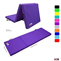 Xn8 Sports Yoga Tri Folding 6cm Over 2 inches Thick Foam Mats Yoga Gym Abs Exercise Home Fitness Workout Camping Mat