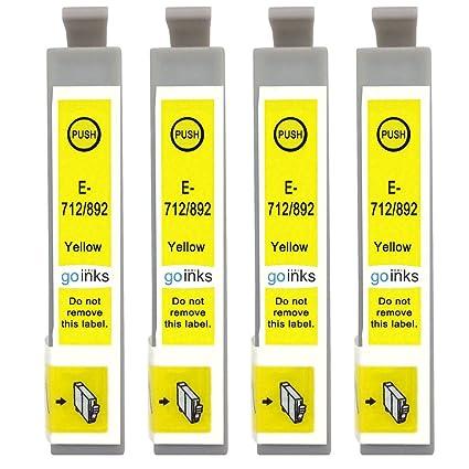 GO Inks E-714 - Juego de 4 cartuchos de tinta para impresora ...