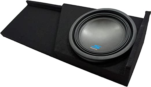 """Compatible with 2007 2008 2009 2010 2011 2012 2013 Chevy Silverado Ext Cab Truck Alpine S-W12D4 Type S Car Audio Subwoofer Custom Single 12"""" Sub Box Enclosure Package"""