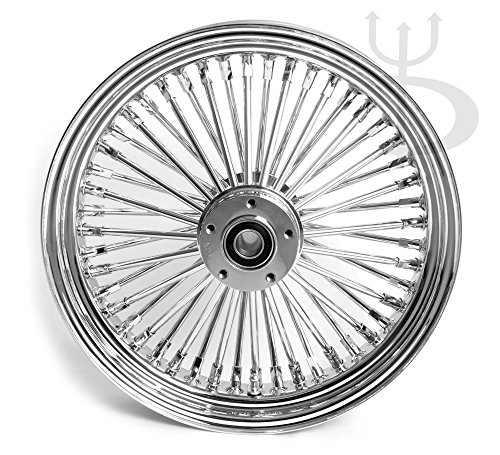 16 x 3.5 Chrome 48 Fat King Spokes Rear Wheel for Harley 130-140 Tires