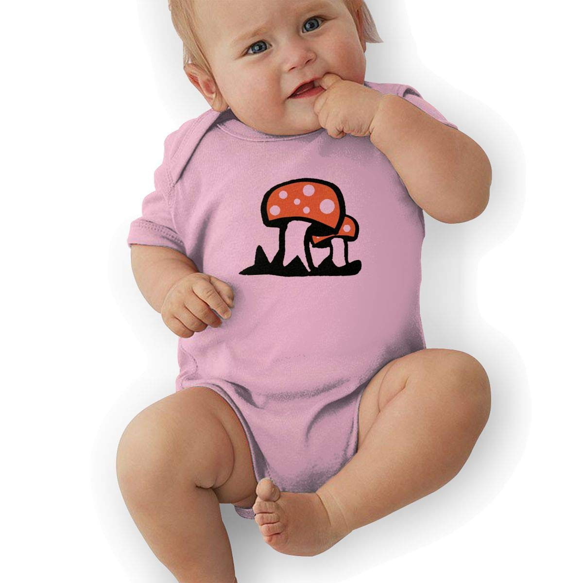 NNDSSS Fly Agaric Mushroom Cute Infant Bodysuit Romper Jumpsuit Clothes Newborn Baby Onesies