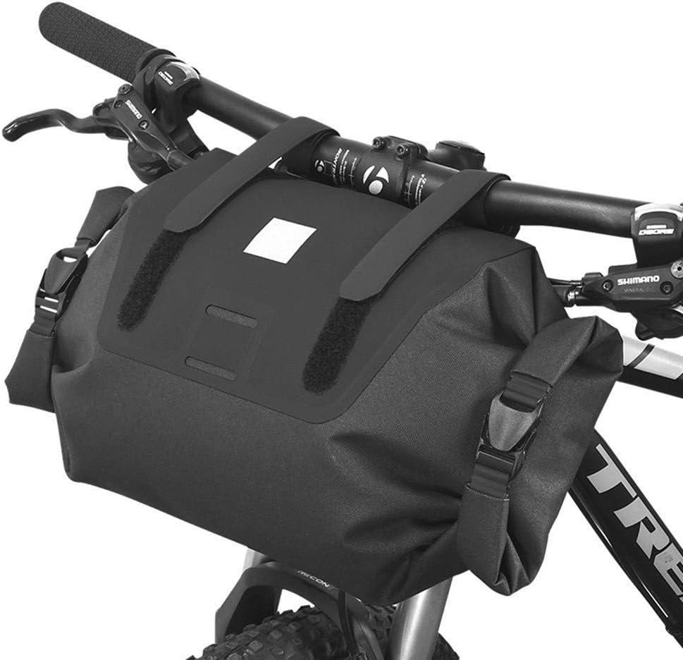 ROCKBROS Bicycle Handlebar Bag Extend Strap Waterproof Cylinder Bike Frame Bag