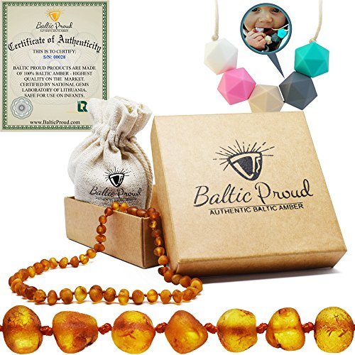 Amber Teething Necklace For...