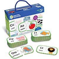 Learning Resources ABC Puzzle Cards, Kindergarten Readniness, Self Correcting Puzzles, Ages 4+, Multi