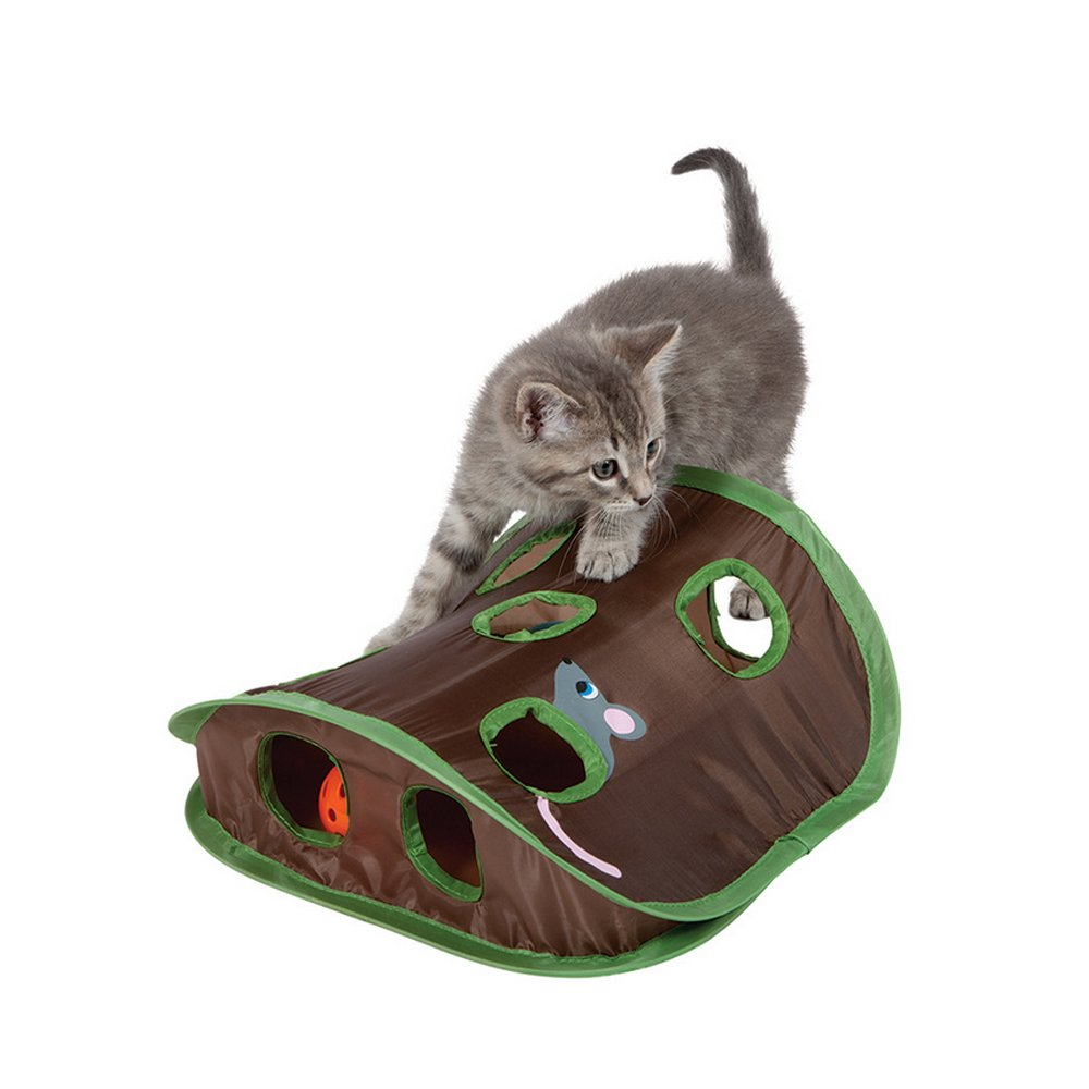 RunHigh Cat Catch Hide Mice Hunt Mouse Motion Bell Ball Toys