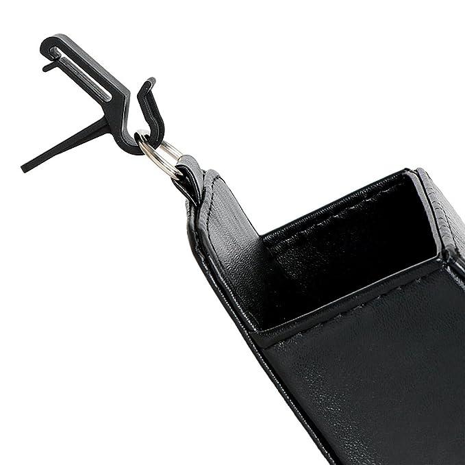 Schwarz holdream Auto Aufbewahrungstasche PU-Leder Auto Organizer f/ür Handy Sonnenbrille Pen Karte