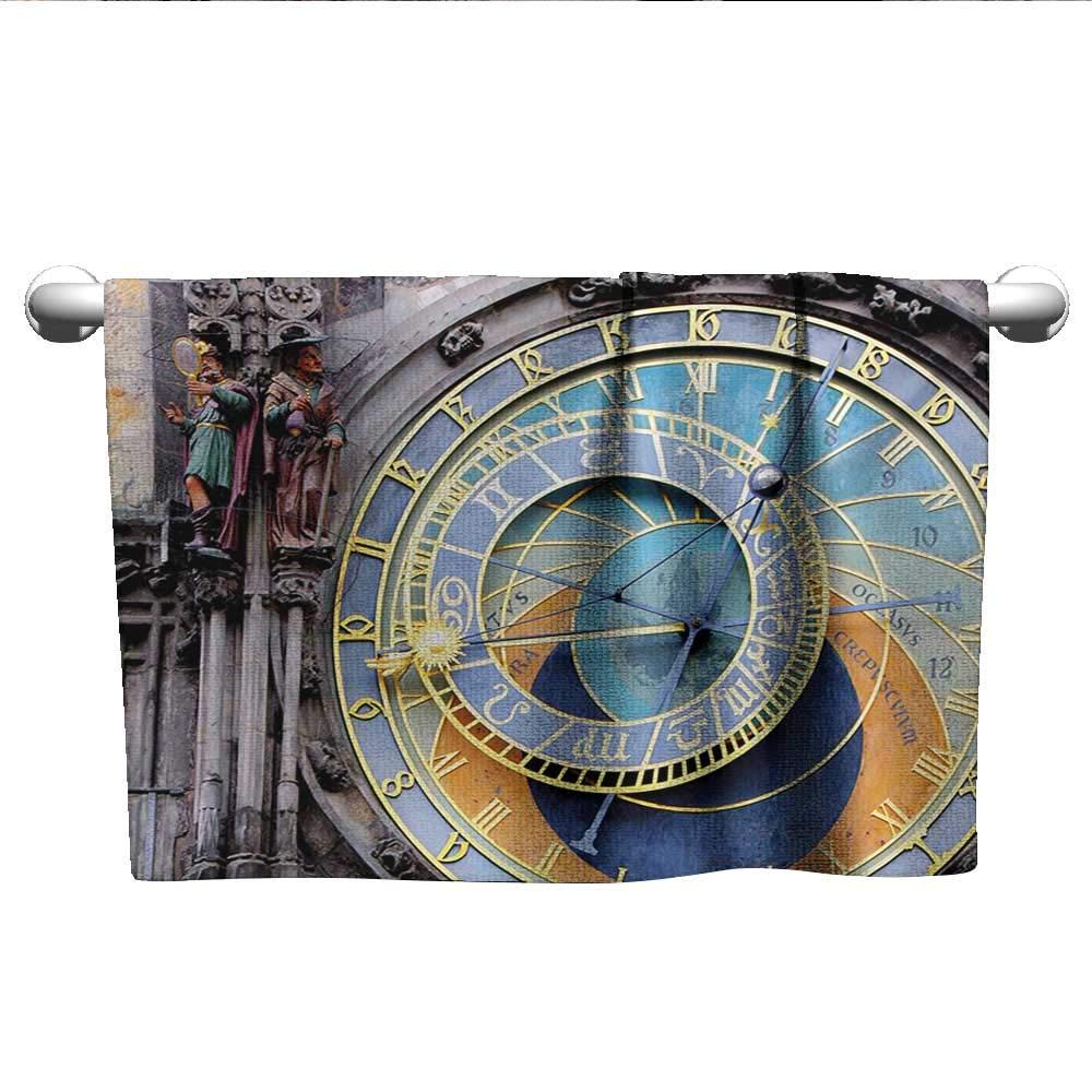 Amazon.com: alisoso Clock,Decorative Bathroom Towels Vintage ...