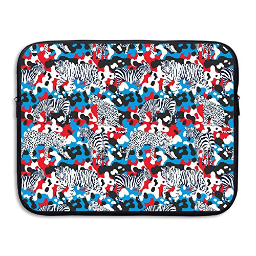 Wild Animals With Camouflage Laptop Sleeve Case Bag Cover For 13-15 Inch Notebook Computer Box Wild Camo