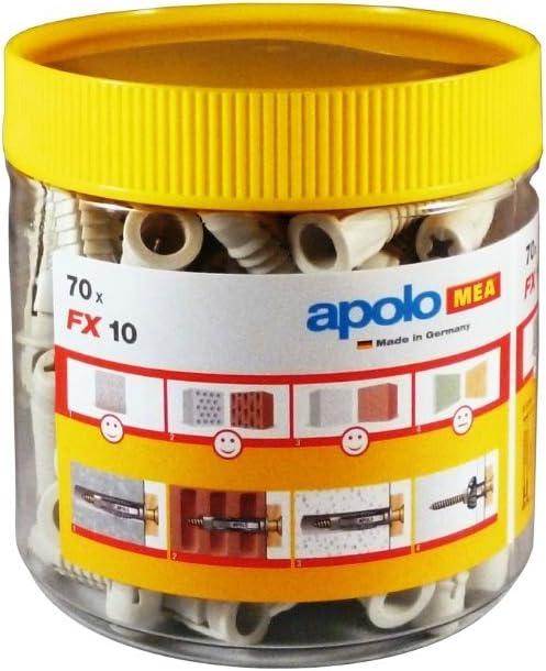 Apolo Mea 910Expfx 1 Unidad Taco de Nylon  Tipo Fx 10 En Bote Pl/ástico 70 Pcs Por Bote