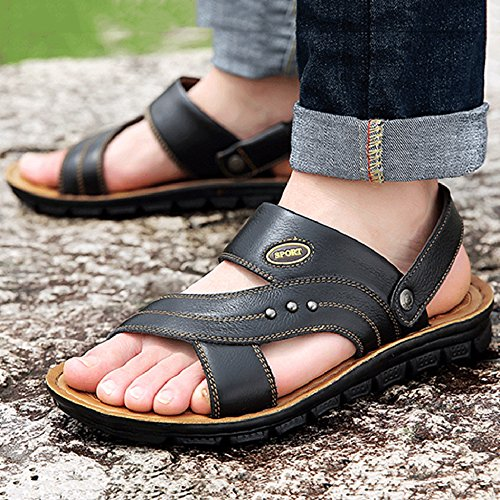 Y De Sandal Black Piscina MERRYHE De Surf Sandalias De para Sandalias Zapatillas De Slip Athletic De Cuero Abierto Antideslizantes Senderismo On Playa Hombres qwIBX1