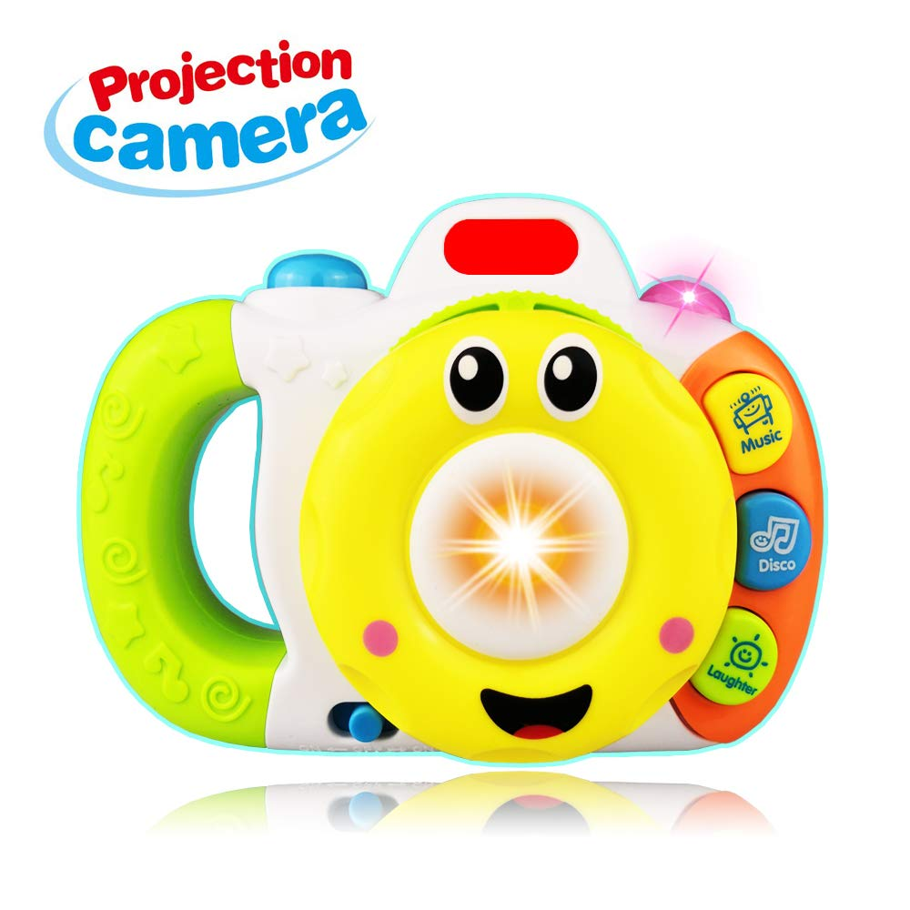 SUGOO Projection Music Camera Toy for 1-5 Year Old Boy Girl Kid- Best Gift