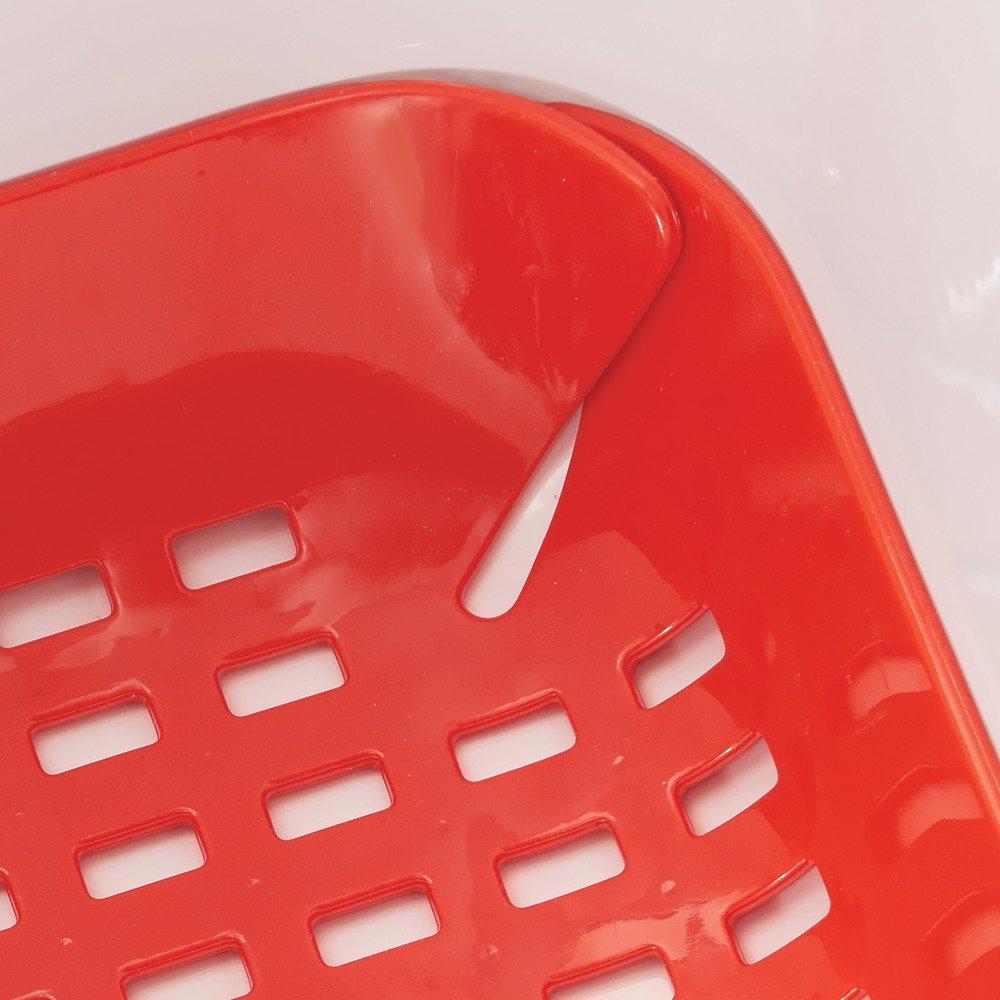 rouge fond /évier en plastique PVC InterDesign Basic tapis /évier protection /évier pour lavabo