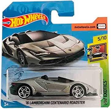 Hot Wheels 16 Lamborghini Centenario Roadster HW Exotics 213/250 2019 Short Card: Amazon.es: Juguetes y juegos