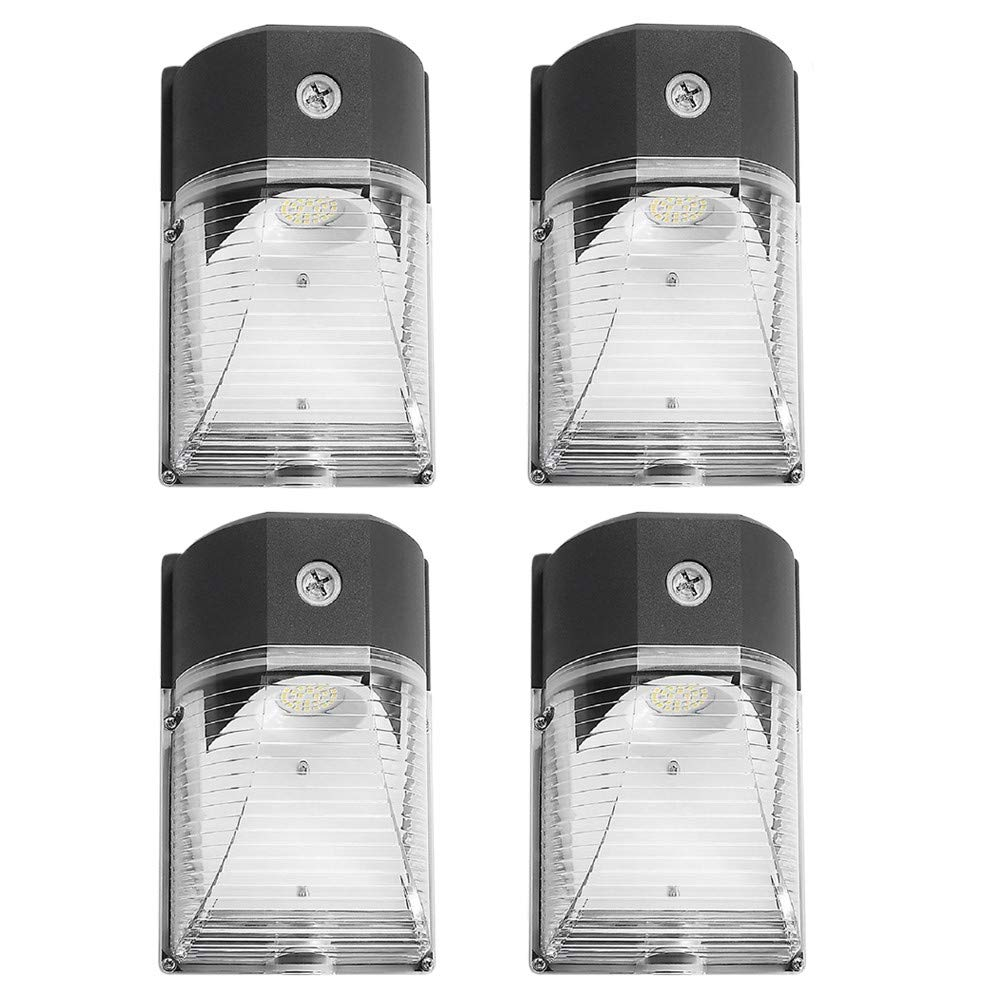 CINOTON LED Wall Pack Light, 26W 3000lm 5000K (Dusk-to-Dawn Photocell,Waterproof IP65), 100-277Vac,150-250W MH/HPS Replacement, ETL DLC Listed 5-Year Warranty Outdoor Security Lighting (4pack) by CINOTON