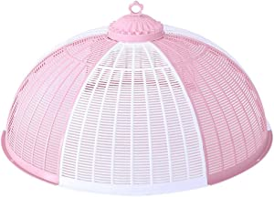 Cabilock Plastic Food Cover Fresh Food Cover Snack Display Cover Food Domes Cake Cover Food Protective for Kitchen Home Party Picnic BBQ (Random Color)