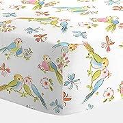 Carousel Designs Love Birds Crib Sheet