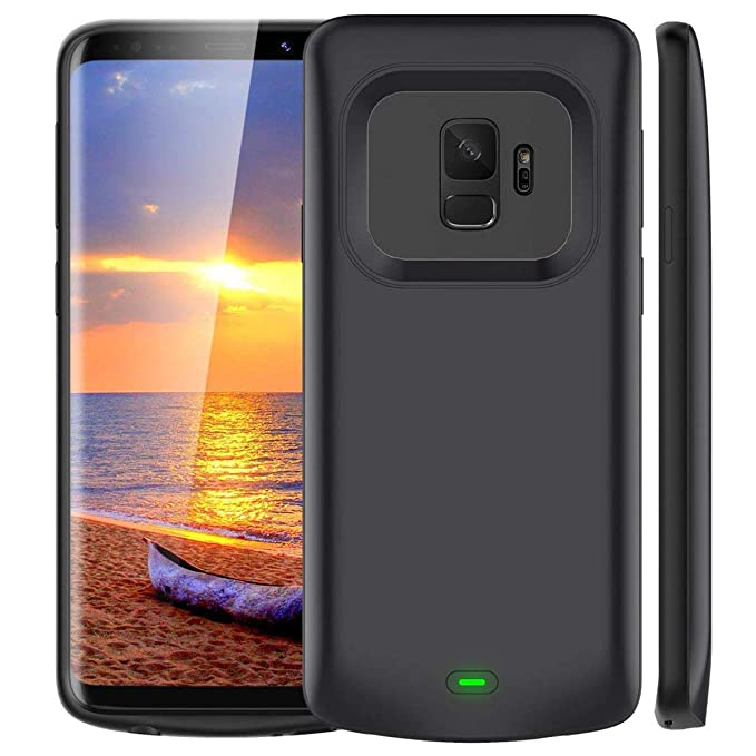 low priced 23e73 a4dba Galaxy S9 Battery Case, Vproof [4700mAh] Portable Charger Case Extended  Charging Case Rechargeable Protective Backup Power Case for Samsung Galaxy  S9 ...