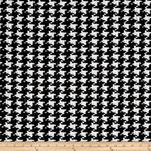 Robert Kaufman Kaufman Cotton Boucle Prints Houndstooth Black (Cotton Boucle)
