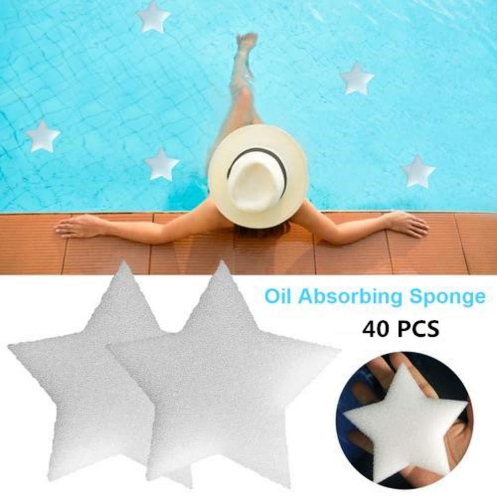 3,74 x 3,74 x 1,18 Zoll perfekt um den Whirlpool des Pools sauber zu halten Kindlyperson 10 St/ück Scum Star /ölabsorbierender Schwamm