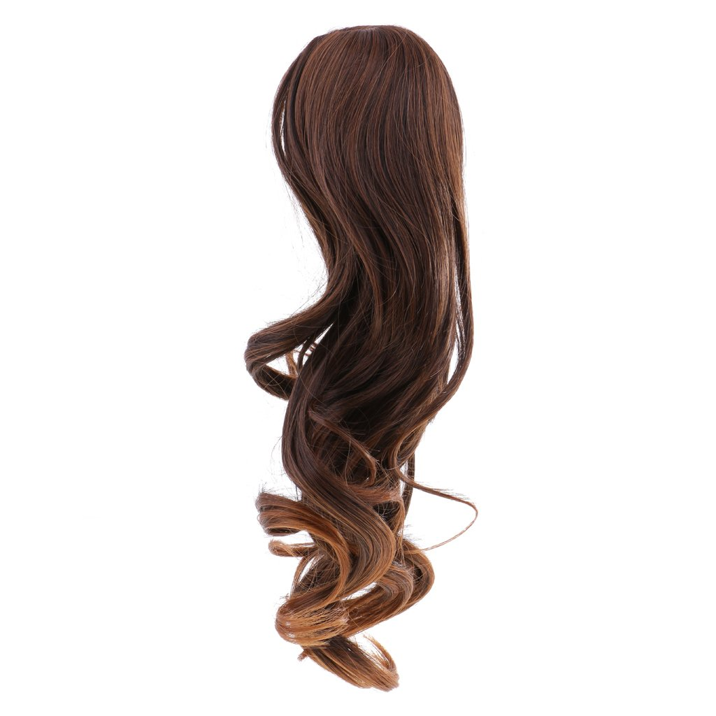 Dovewill Doll Middle Parting Wavy Hair Wig Hairpiece For 18'' American Girl Doll DIY Making & Repair Accessories #13