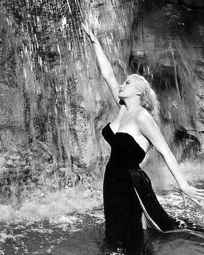 Anita Ekberg 16x20 Poster classic in water in Trevi Fountain Rome La Dolce Vita