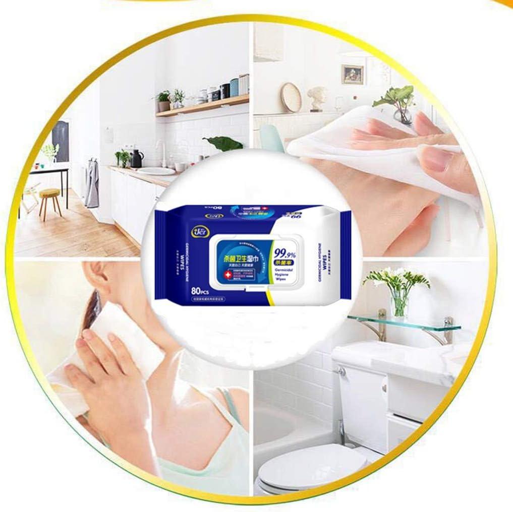 Zumint Lingette Humide Antibact/érienne Pour Soins de Sant/é des Mains Tissue Clean 80 Lingettes//Paquet Sans Alcool