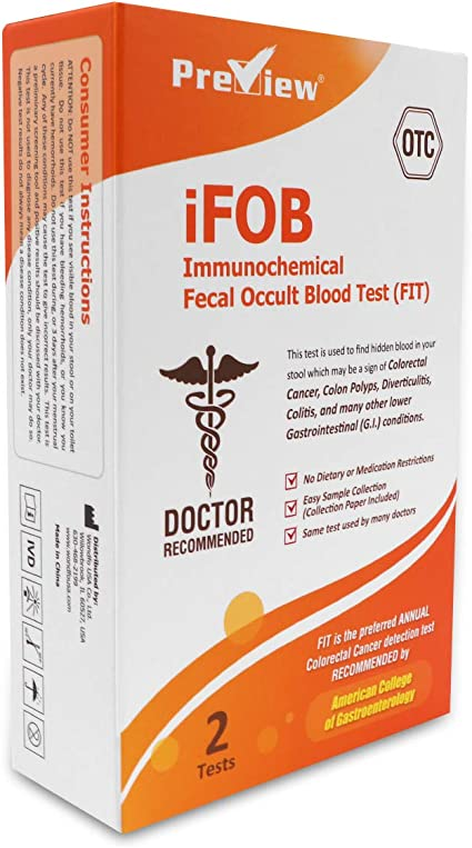 Preview Immuniochemical Fecal Occult Blood Test Fit 2 Tests Amazon Co Uk Health Personal Care