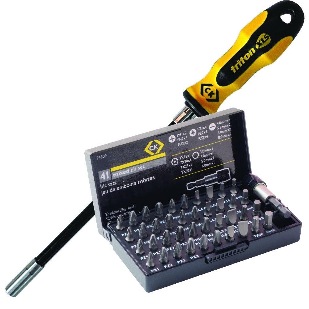 C.K T4760 - Portapuntas con mango flexible, magné tico magnético C.K Tools