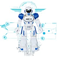 Remote Control RC Robots Toys Think Wing Interactive Funny machine with LED Eyes, Speaking, Singing, Dancing, Walking, Sliding, A Good Beginner Programmable Robot for Young Children