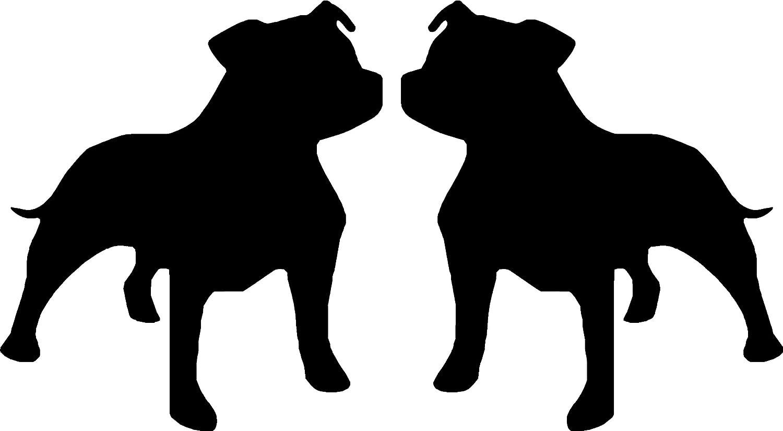 American Staffordshire Terrier Motiv Staffordshire Bull Terrier Für Auto Fenster Motiv Sbd11 Baumarkt