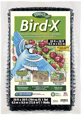 Dalen BN-3 Gardeneer Bird-X Protective Netting 28' x 28' (1 Pack) (100055857) , - Netting Protective