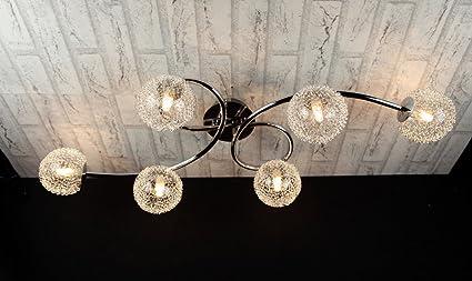 Plafoniere E Lampadari : Trio lighting plafoniera art. r61326106 lampadario moderno acciaio