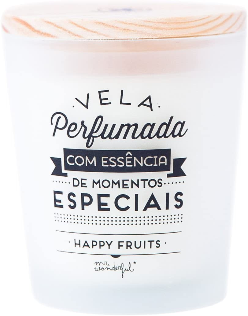 Mr. Wonderful - Vela con mensaje Perfumada com essência de momentos especiais: Amazon.es: Belleza