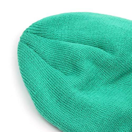 FANQIANNAN Eys del Femenino del Hecho Casual Invierno del Sombrero De Punto 1 Bordado 3 Varón Grande Lindo HnrUHgqvWA