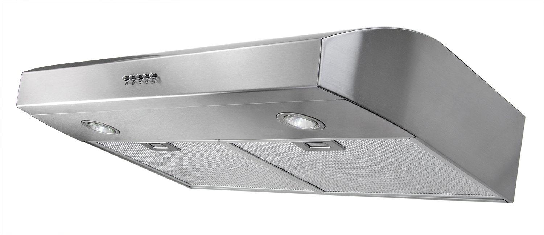 AKDY 30-Inch 3-Speed Stainless Steel Under Cabinet Range Hood AZ-W0175SS (Silver)