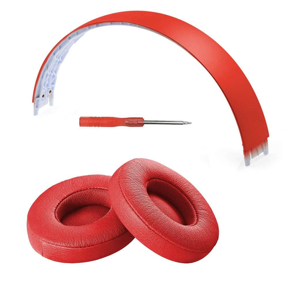 Almohadillas Banda Repuesto para Beats Solo 2/3 Rojo