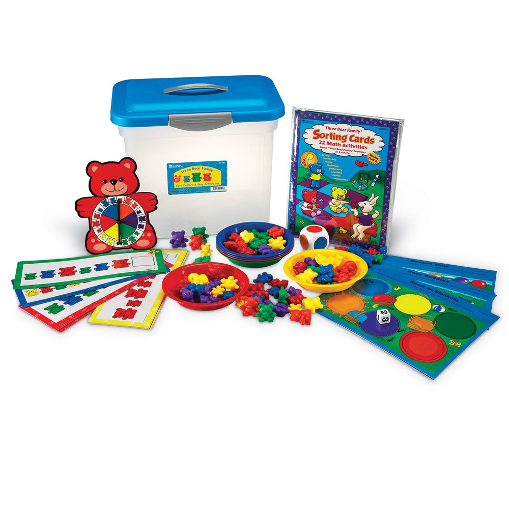 Learning Resources Three Bear Family Sort, Pattern & Play Activity Set