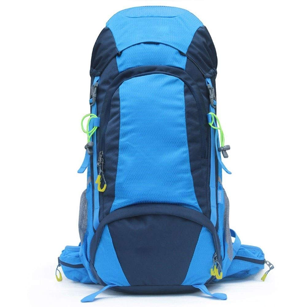 MYXMY Outdoor Men and Women Backpack Travel Waterproof Large Capacity Camping Equipment Breathable Lightweight Comfortable Travel Backpack 45L(Blue)