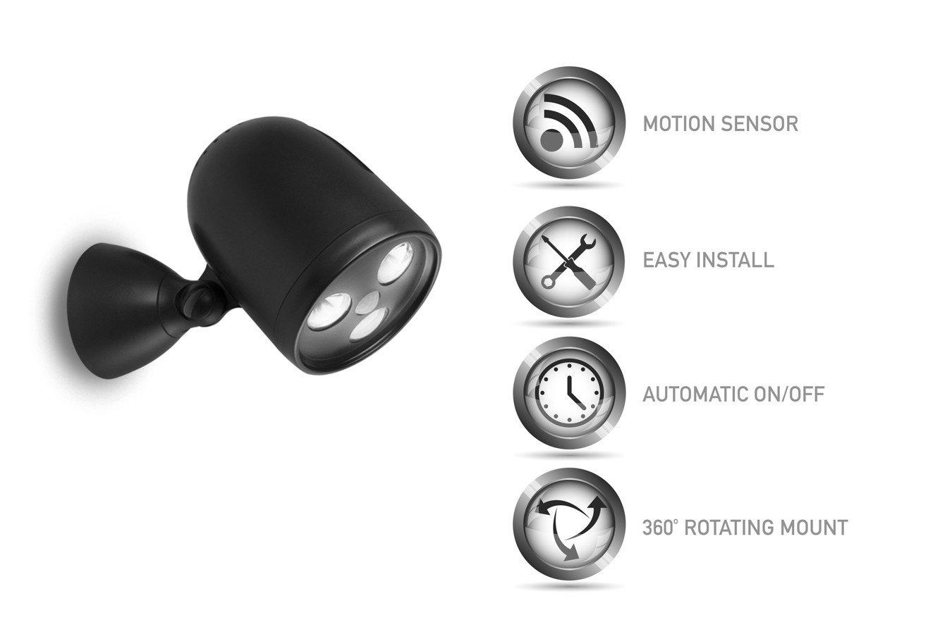 XX Brighton - Luz Exterior LED con Sensor Met, Color Negro, 19 x 10 x 14 cm: Amazon.es: Jardín