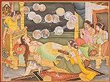 Fourteen Dreams of Trishala, the Mother of Tirthankara Mahavira - Water Color Painting on Paper