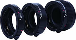 Movo Photo AF Macro Extension Tube Set for Canon EOS DSLR Camera with 12mm, 20mm & 36mm Tubes (Economy Mount)