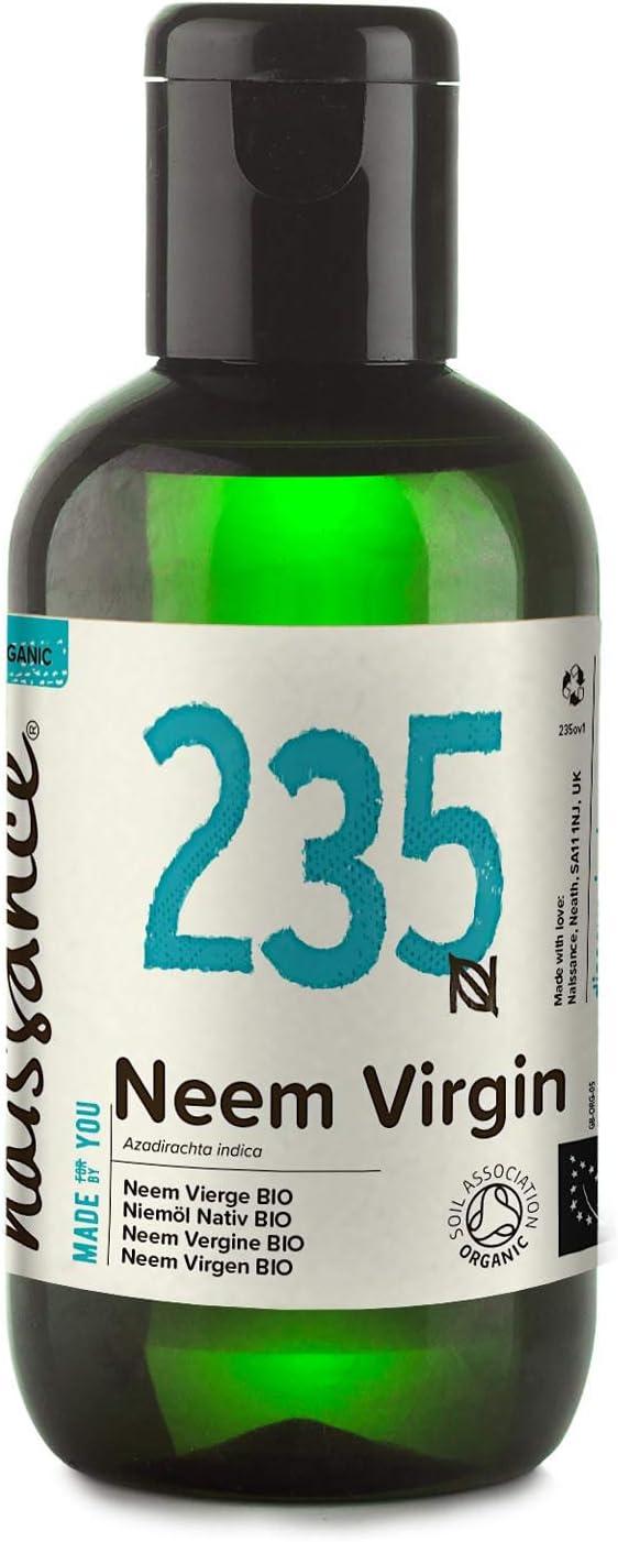 Naissance Aceite Vegetal de Neem Virgen BIO n. º 235 – 100ml - Puro, natural, certificado ecológico, prensado en frío, vegano y no OGM.