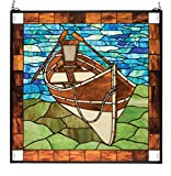 Meyda 26 Inch W X 26 Inch H Beached Guideboat Stained Glass Window offers
