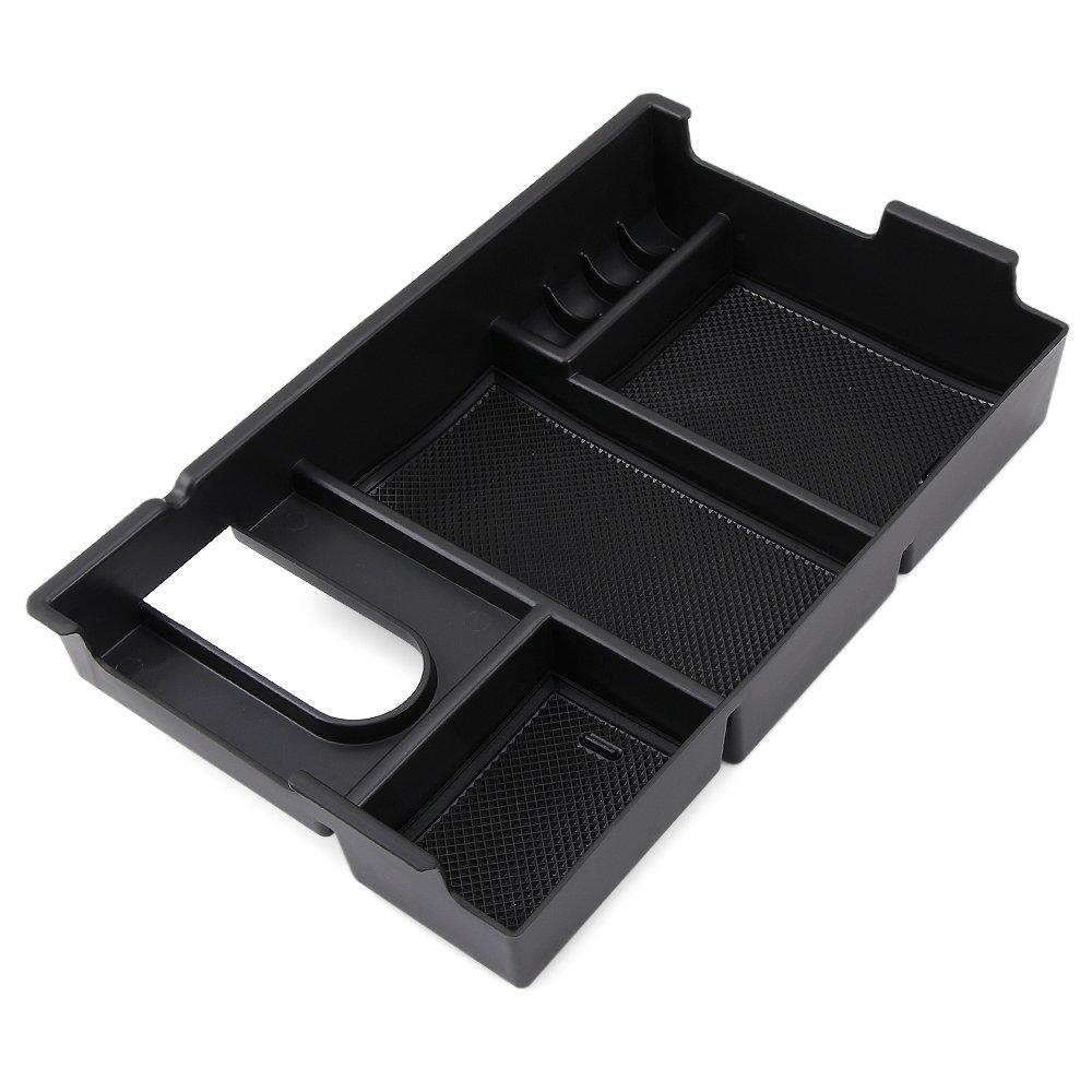 POZEL Car Center Console Armrest Box Glove Box Secondary Storage Console Organizer Insert Tray for Toyota Sequoia 2007+ 4350415737 //Toyota Tundra 2008+